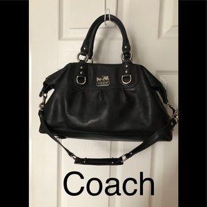 Coach leather purse , black